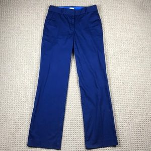 J crew stretch cotton trouser blue size 4